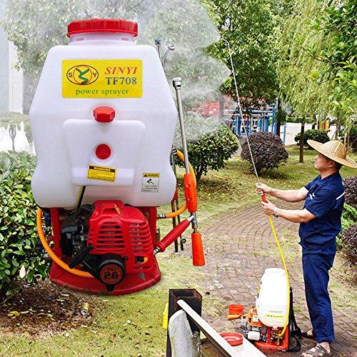 Backpack Sprayer 20 Liter Petrol Power Backpack Garden Sprayer Knapsack Mist Duster Weed Killer Weed Sprayer Backpack Agricultural Tool (US Stock)