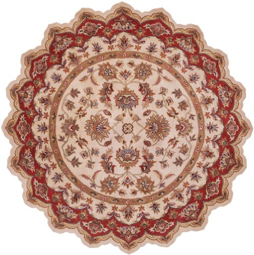 LR Resources Traditional Scallop Area Rug 7'9