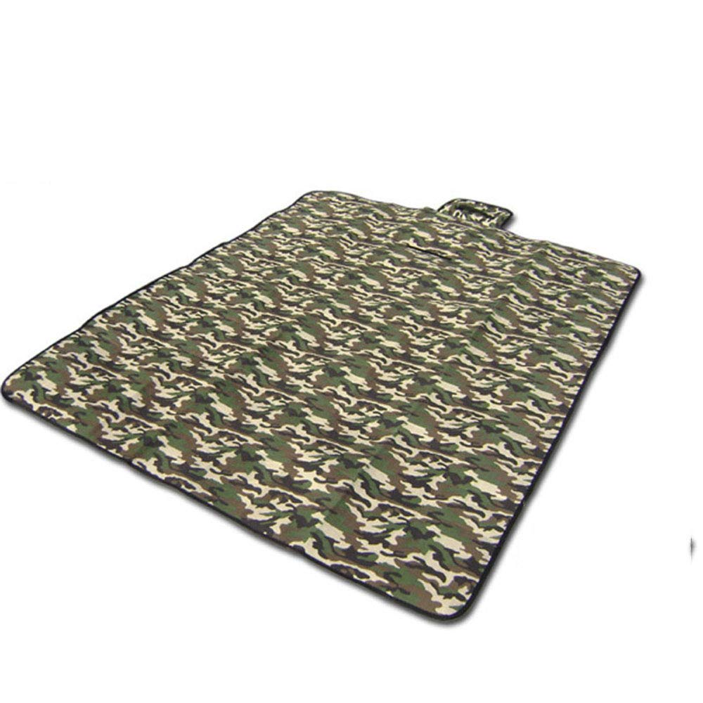LYS Outdoor Beach Mat, Camouflage Pad Moistureproof Waterproof Foldable Portable Leisure Camping Park Travel Tent Wide Use