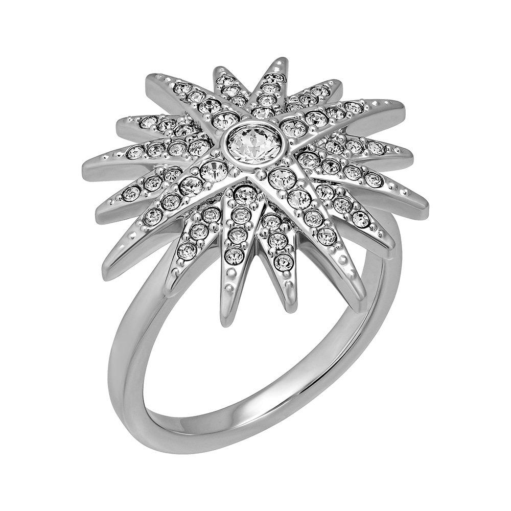 Swarovski Balthus 5079319 Rhodium Plated Clear Crystals Star Ring - 7
