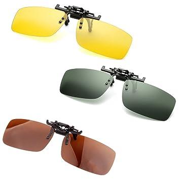 DSVIQI UV400 polarizado con clip del tirón encima del clip gafas de sol de las lentes