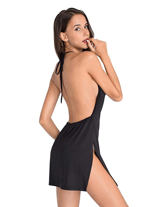 f8daf9325290 Lomantise Women Backless-Nightclub Dress Assless Low-Cut at Amazon Women's  Clothing store: