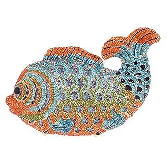 Fawziya Mini Fish Purse For Girls Handbags For Women Clutch Purse-Orange