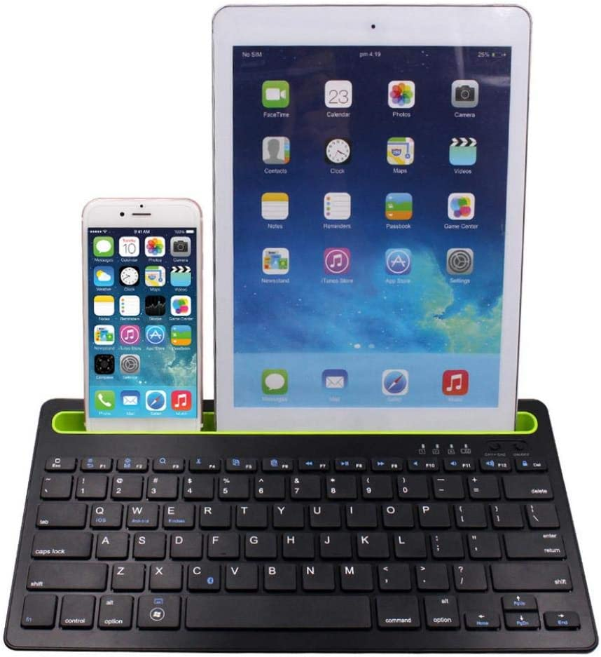 Black scgtpapadc Phone Tablet Laptop Bluetooth Keyboard Holder for iOS Android Windows