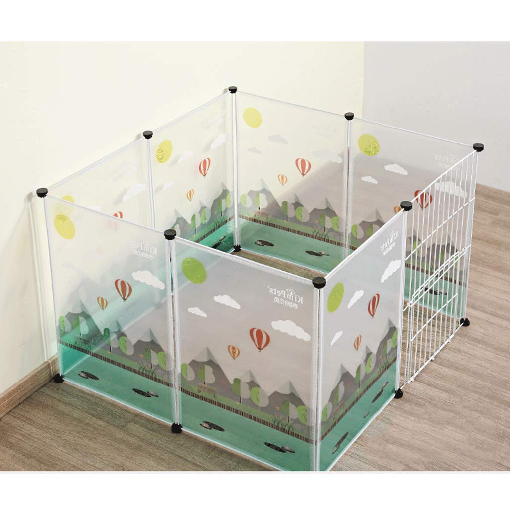 Panel With Door 100x100x70cm Panel With Door 100x100x70cm AA-GWCWWWL Expandable Small Animals plastic Playpen Cage Kennel for Bunny Guinea Pig Rabbit Puppy, Indoor & Outdoor