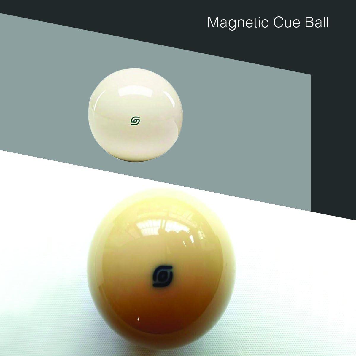 Auténtica magnético torneo de bola de billar para Coin-op mesas de billar, Blanco: Amazon.es: Deportes y aire libre