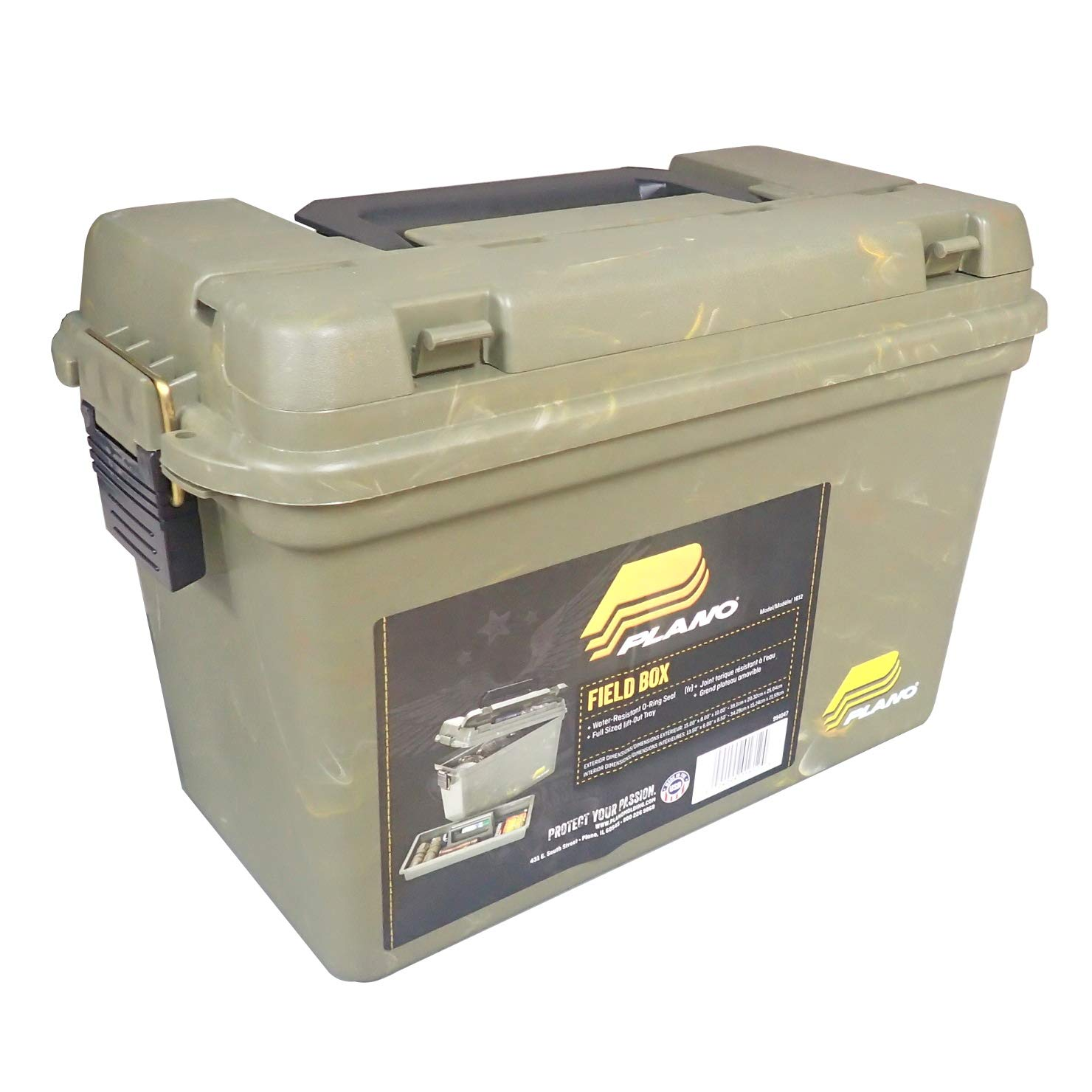 Plano 1612 Deep Water Resistant Field Box with Lift Out Tray by Plano