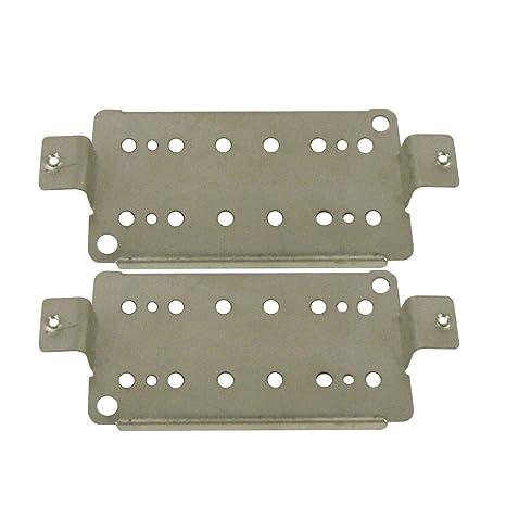 FLEOR 2pcs metal pastilla Base placa 50 mm Polo espaciamiento pastilla Humbucker para guitarra eléctrica placa