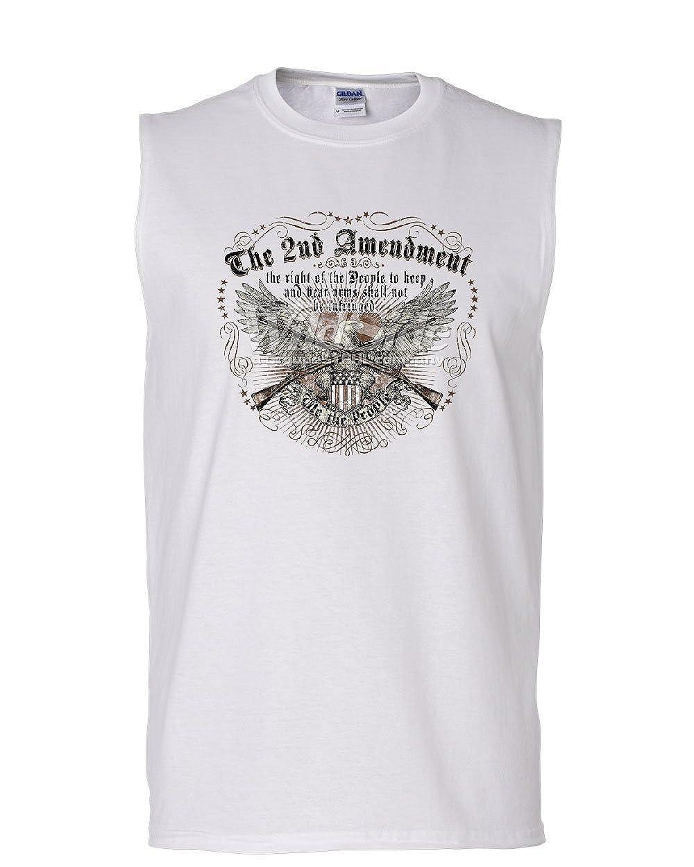 Tee Hunt The 2nd Amendment Muscle Shirt We The People Bald Eagle Rifles 2A USA Sleeveless