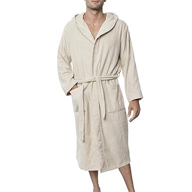 Peignoir de Bain 100% Coton avec Capuche pour Homme - Taille XS ... f7f2355d355