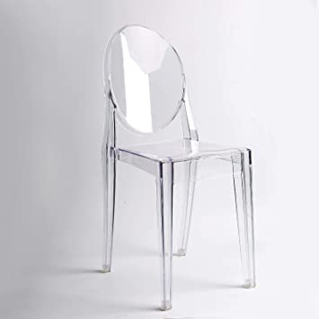 chair4you Lot de 4 Claro sillas Inspirado Ghost Victoria Comedor Transparente Moderno