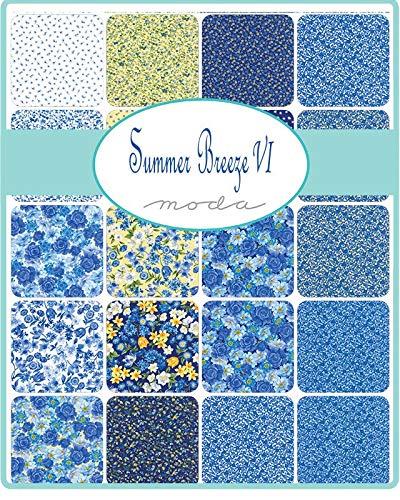 Summer Breeze VI Jelly Roll 40 2.5-inch Strips Moda Fabrics 33370JR, Assorted by Moda Fabrics (Image #1)