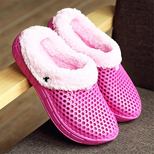 Unisex Home Warm Clogs and Mules Women Rose xoQjlC3qE7
