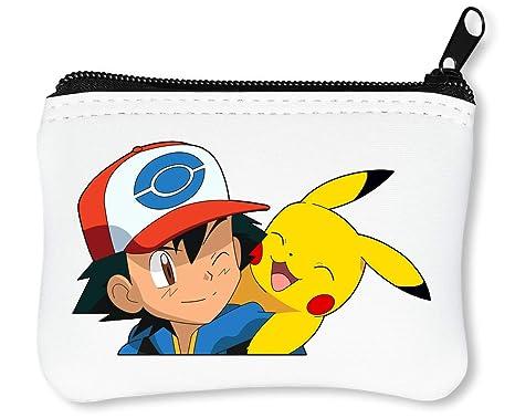 Ash Pikachu Pokemon Anime Billetera con Cremallera Monedero ...