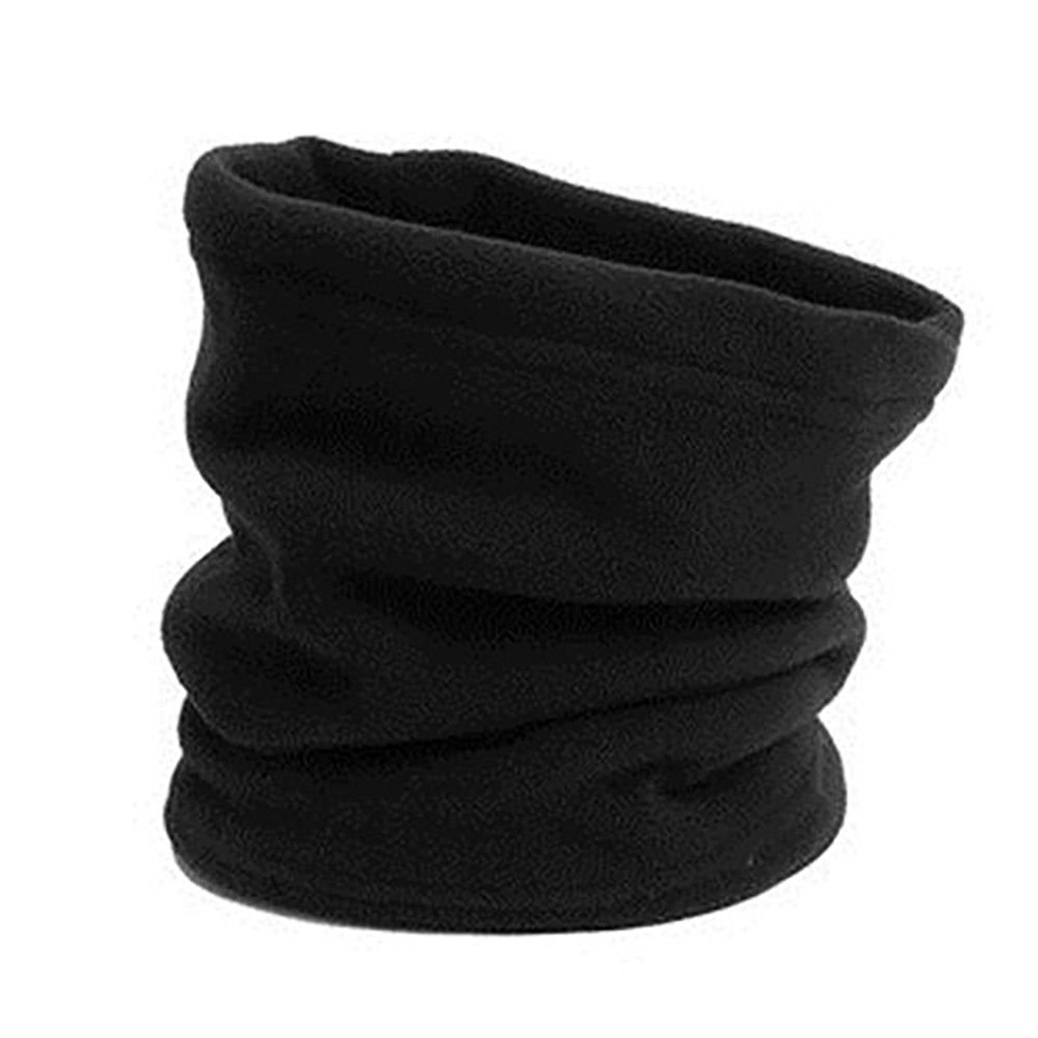 Fleece Neck Warmer Face Mask for Cold Weather Ski Mask Face Shield Headgear Balaclava for Warmth Outdoors, One Size Fits All (Black)