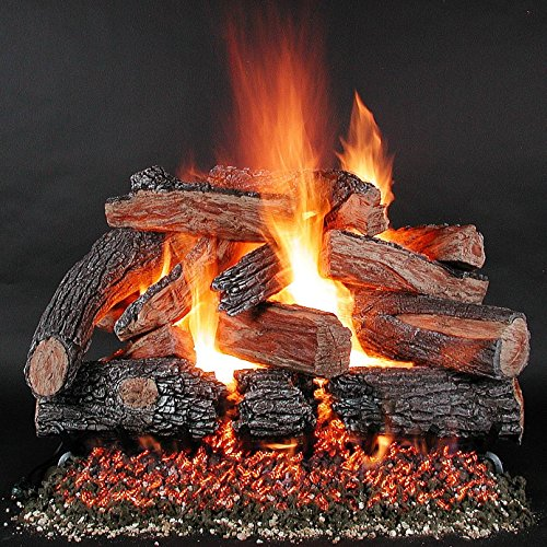Rasmussen 48 Inch Timberfire Gas Log Set With Vented Natural Gas Ld Multi- Burner - Match Light (Rasmussen Log Set)