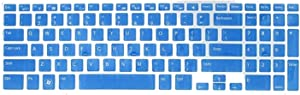 Keyboard Dust Cover Silicone Transparent Skin Film Compatible for DELL New 15R N5110 M5110(White),Blue
