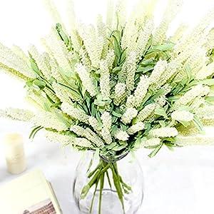Erovy - 12 Heads Artificial Lavender Silk Flower Bouquet Wedding Home Party Decor Decorative Fake Flowers For Decoration 3