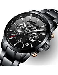 Brand Men's Business Casual Chronograph Quartz Waterproof...