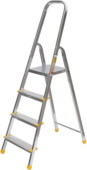 Aluminio Escalera de pintor Escalera multiusos Escalera 4 stufentüv/GS: Amazon.es: Bricolaje y herramientas