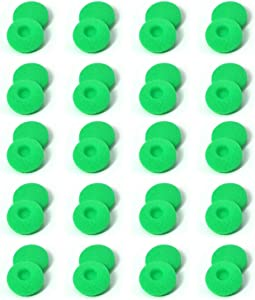 Zotech 40 Pack Replacement Foam Earbud Earpad Ear Bud Pad Replacement Sponge Covers for Apple Airpods EarPods iPod iPhone Itouch Ipad Headsets (Green)