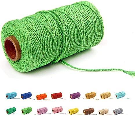 100 yardas/2 mm/19 colores) cordón de macramé para manualidades ...