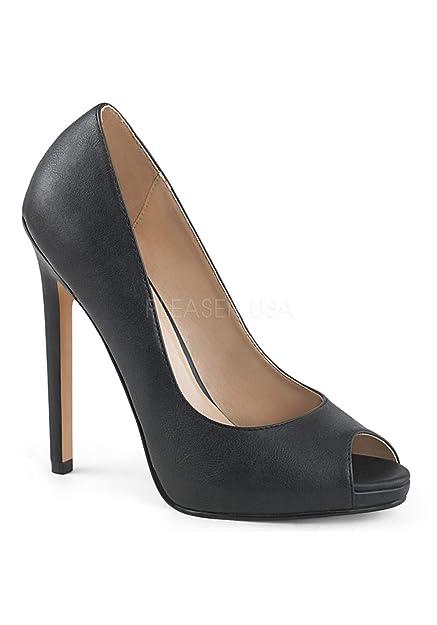 52b9e9cfce95 Pleaser Women s Sexy-42 Slide Pump Black  Amazon.co.uk  Shoes   Bags