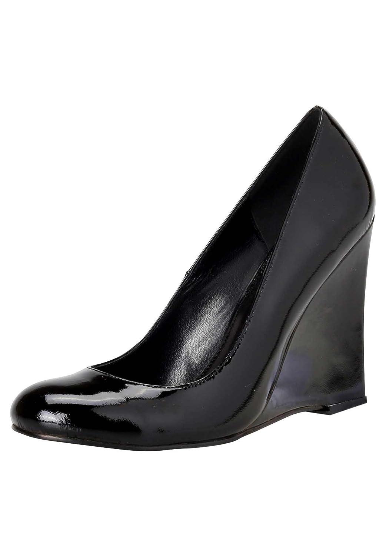 APART Damen-Schuhe Lacklederpumps Schwarz Schwarz Lacklederpumps Größe 38 - beb754