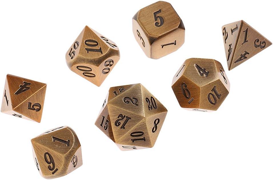 non-brand 7X Dados de Metal D4 D6 D8 D10 D12 D20 para Juegos de Mesa RPG MTG - # 5: Amazon.es: Juguetes y juegos