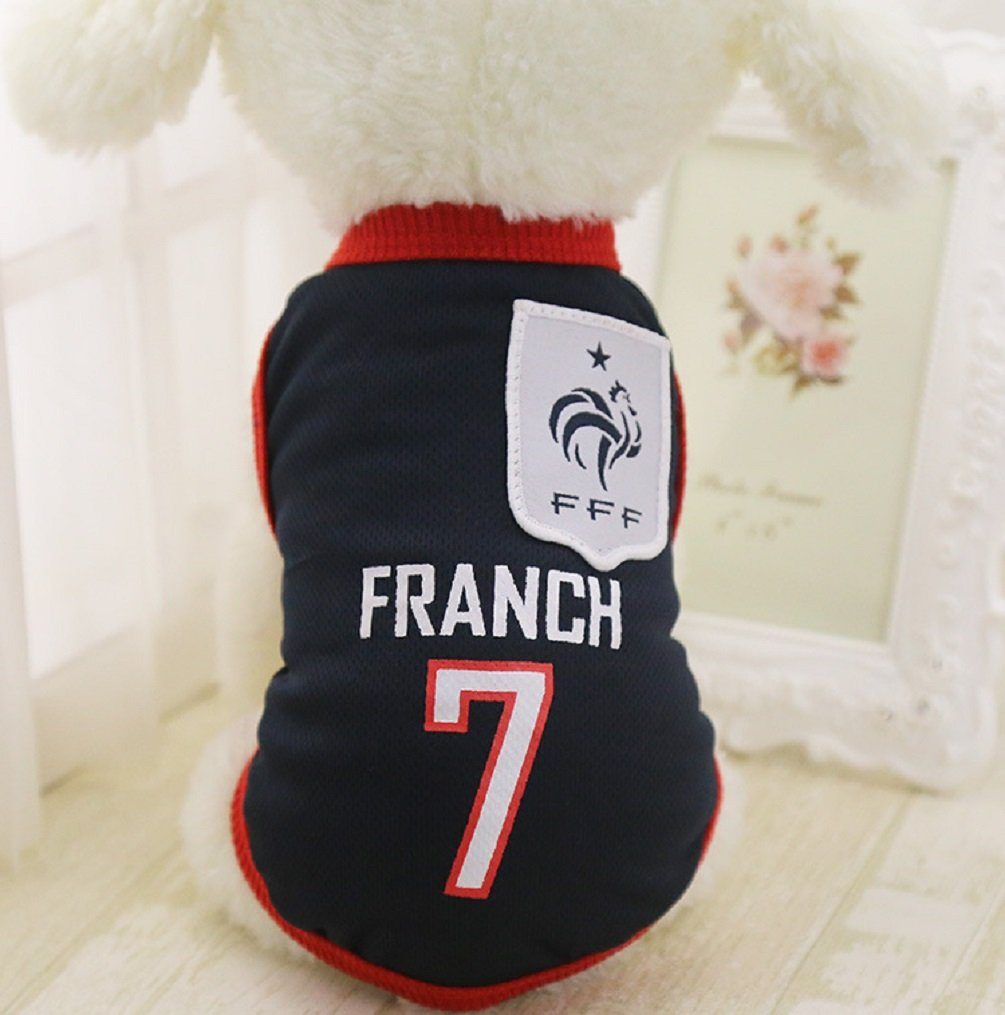 L,Lakers KayMayn Pet Jersey Football Licensed Dog Jersey Comes in 6 Sizes,Dog Clothes Football T-shirt Dogs Costume National Soccer World Cup,Outdoor Sportswear Summer Breathable