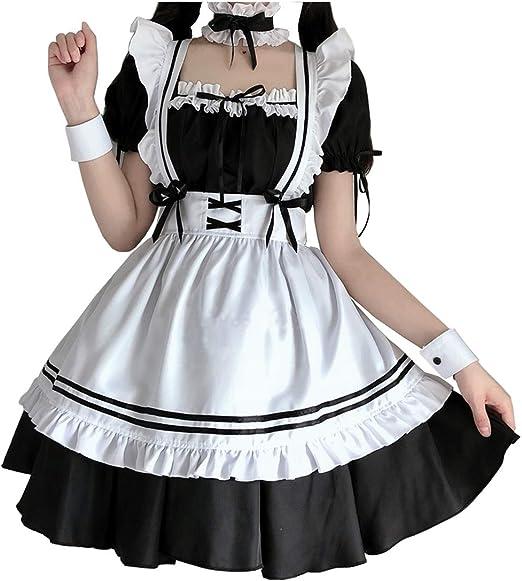 vestido negro de maid japonesa