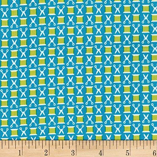 Michael Miller Sewing Circle Snip n' Spools Fabric by the Yard n, Caribbean