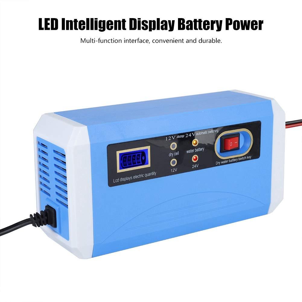EU 110-240V LKW Garsent 12V 24V Auto Motorrad Batterieladeger/ät Motorrad Impuls Blei S/äure Speicher Reparatur Auto Erhaltungsladeger/ät mit LCD Display f/ür Auto