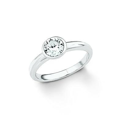 f4bff1242986 S.Oliver Damen Ring 925 Silber Kristall von Swarovski weiß  Amazon.de   Schmuck