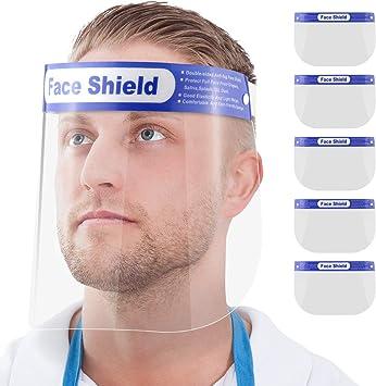 5x Face-Shield Gesichtsschutz-Schirm Visier Augenschutz Schutzschild