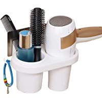 RNAZLIS® Wall Mounted Bathroom Hair Dryer Holder Self-Adhesive