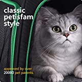 petisfam Soft Pet Carrier for Medium Cats and Small Dogs with Cozy Bed, 3 Doors, Top Entrance | Airline Approved, Escape-Proof, Breathable, Leak-Proof, Easy Storage