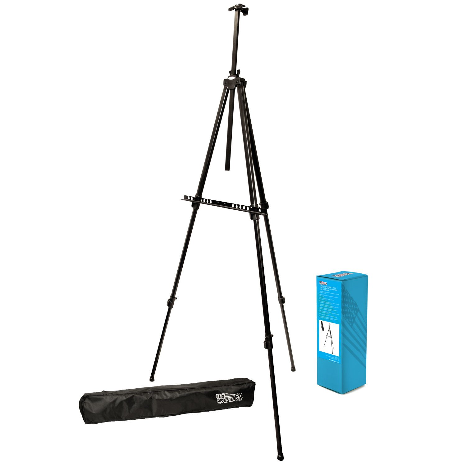 US Art Supply Big Sur 80 inch X-Large Aluminum Tripod Field and Display Easel 1-Easel