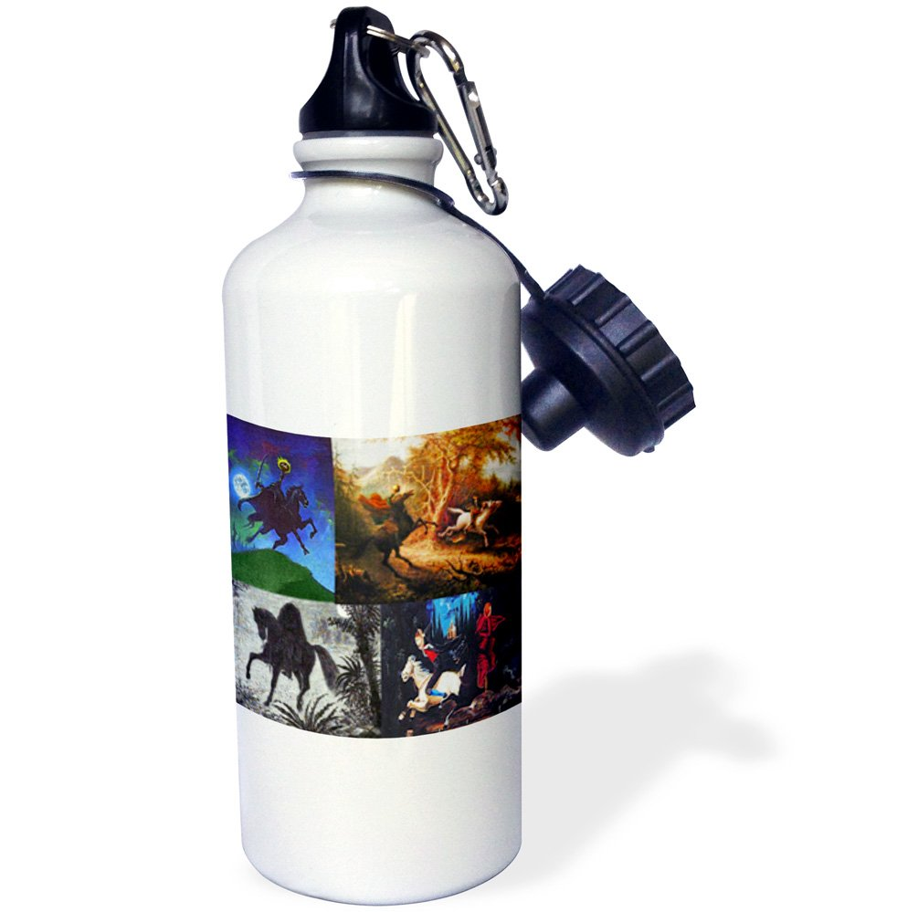 White 21 oz 3dRose wb/_53735/_1Eyeball Collection Sports Water Bottle