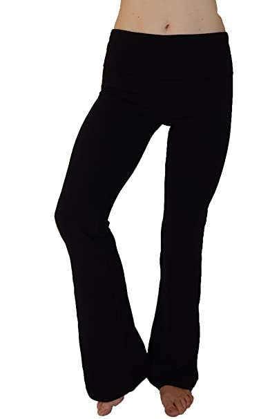 d0d6494b828103 Image Unavailable. Image not available for. Color: N 365 Women's Cotton  Spandex Yoga Pants With Flare ...