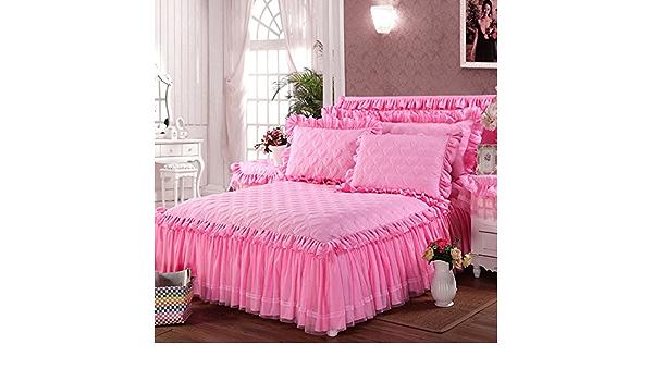 chenyu Falda de cama de algodón engrosado, versión de amor ...