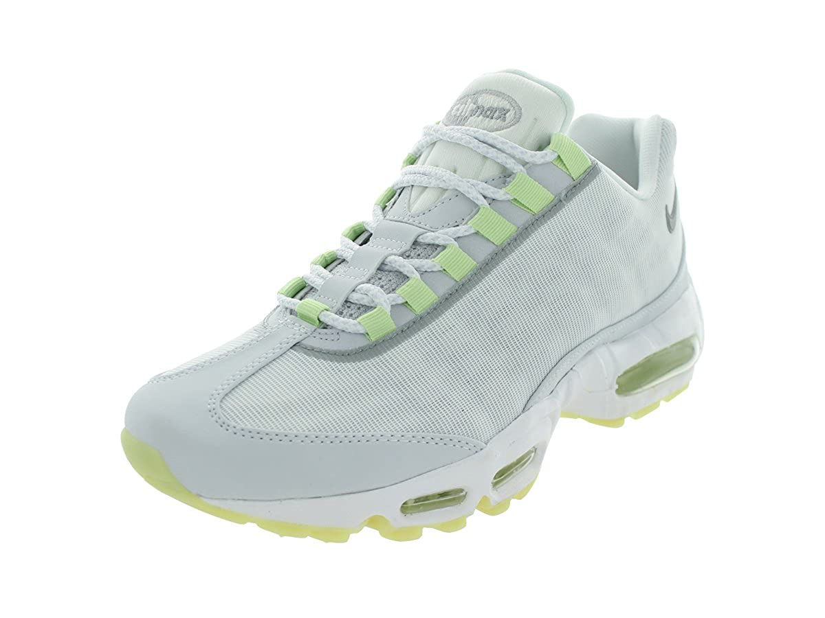 White Geyser Grey-Lab Green Nike Air Max 95 No-Sew Men's shoes Grey