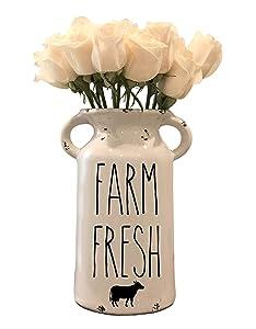 Rae Dunn Inspired Farmhouse Milk Jug - Personalized Milk Can - Farmhouse Milk Can - Personalized Ceramic Milk Can - Farm Fresh Decor