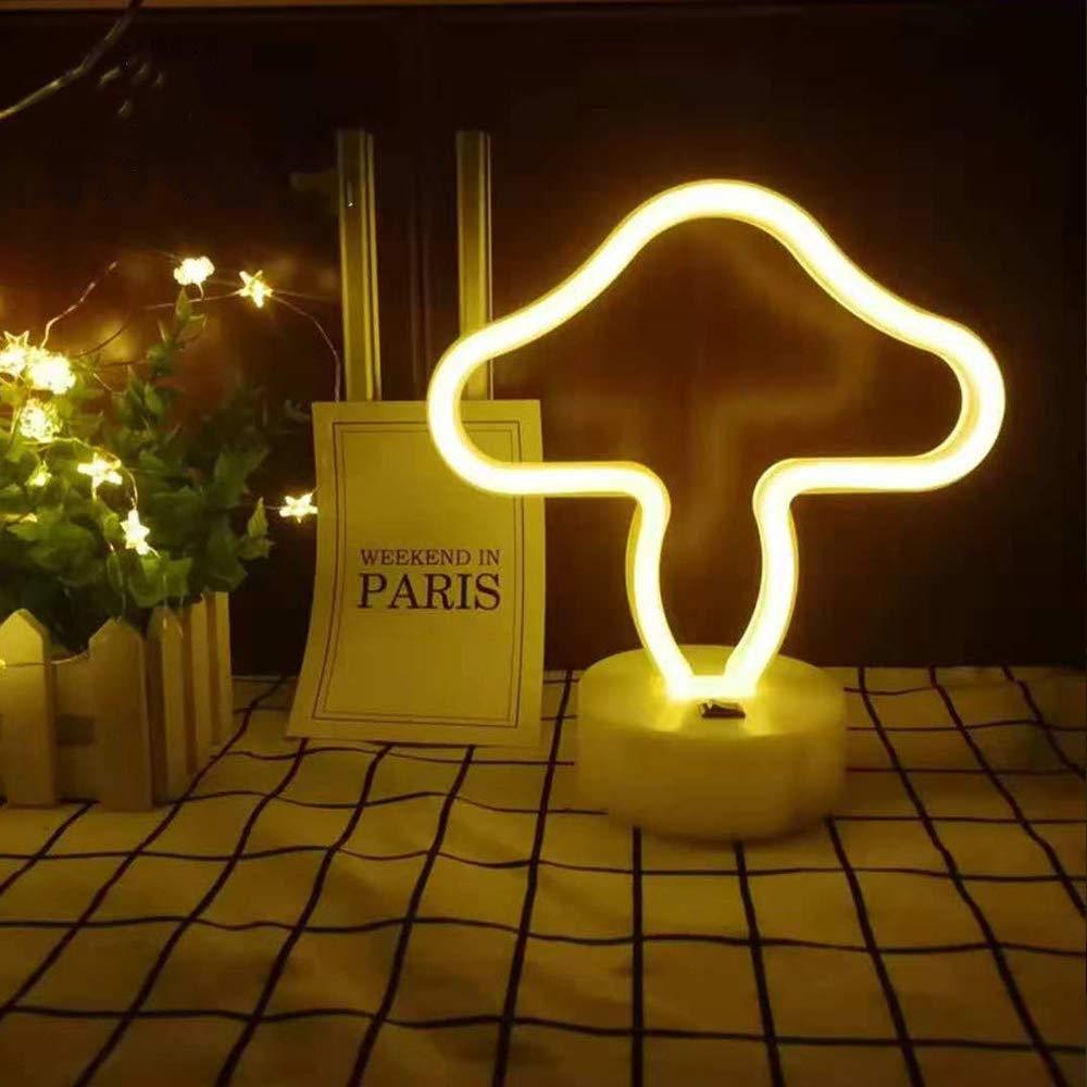 ENUOLI gr/üner Kaktus Neon Signs Mit Base LED Neonlicht-Zeichen USB-3-AA-Batterie-Licht f/ür Partybedarf M/ädchen-Raum-Dekoration-Zusatz f/ür Sommer-Party-Tischdekoration Kinder Kinder Geschenke