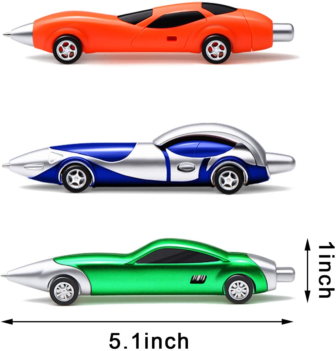 18 Pieces Racing Car Pens Car Shaped Ballpoint Colorful Novelty Pens for Office School Supplies