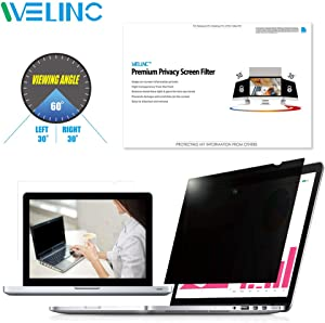 WELINC 22 Inch - 16:10 Aspect Ratio - Computer Privacy Screen Filter for Widescreen Monitor - Anti-Glare - Anti-Scratch Protector Film - Protects Your Eyes from Harmful Glare and Blue Light