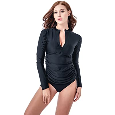 Amazon.com : Micosuza UV Sun Protection Women's Basic Skins Long-Sleeve Rashguard Top : Clothing