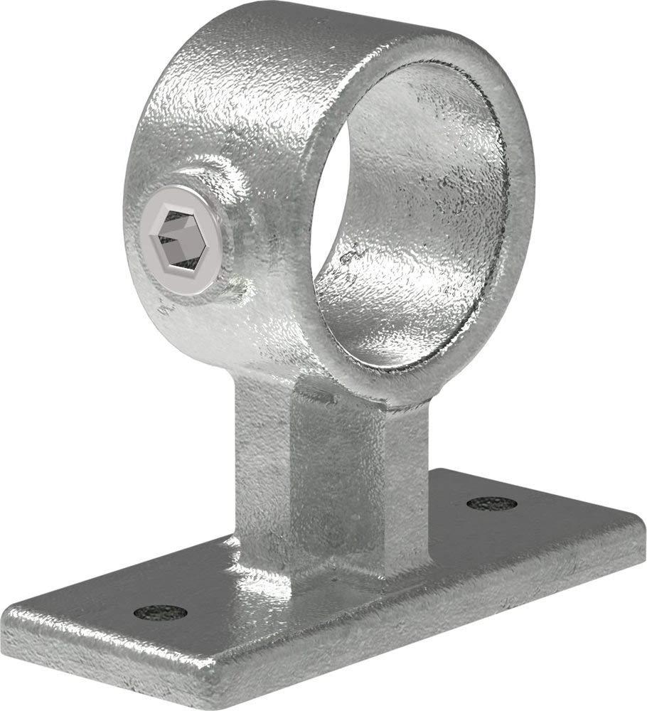 inkl /Ø 48,3 mm Mittelst/ütze-Rohrverbinder Handlaufhalterung//Wandhalterung Temperguss galvanisiert feuerverzinkt Fenau Schrauben//gerade