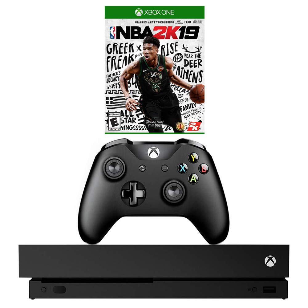 Microsoft Xbox One X 1TB Console with Wireless Controller & NBA 2K19 Bundle (Renewed)