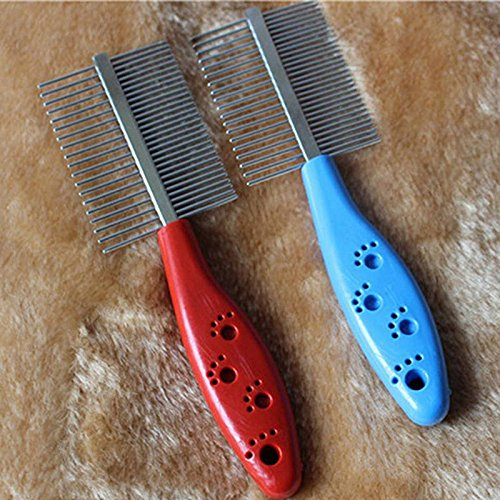 Anti-static Pets Hair Grooming Two-sized Dense Comb - 2